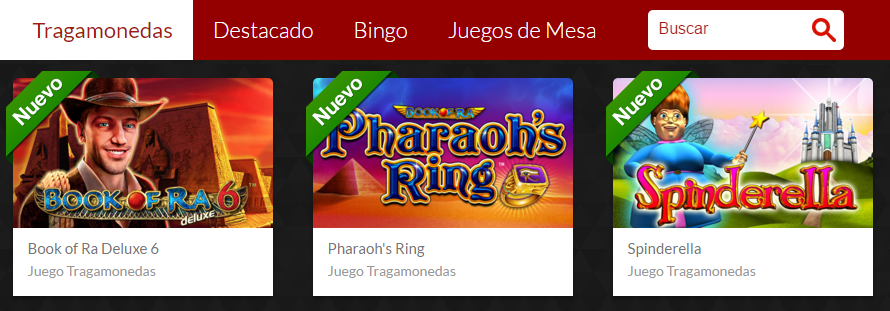 casino fantasia juegos disponibles
